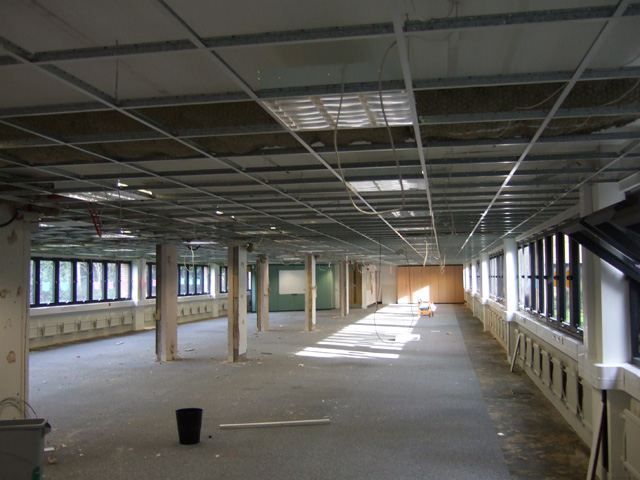 Office suspended ceiling tiles replacement in Wiltshire