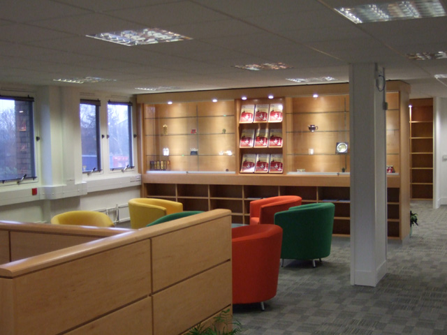 Office refit in Swindon - breakout area installation
